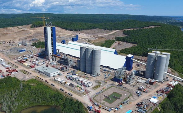 Project cement plant in the Gaspé Peninsula